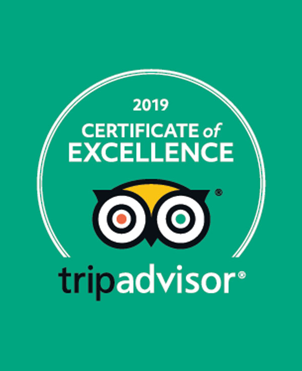 Certificate of Excellence 2019 from TripAdvisor for Manta Diving