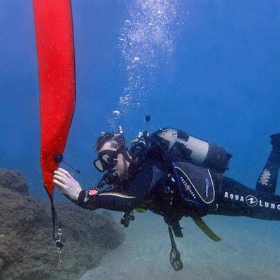 PADI delayed surface marker buoy speciality   Manta Diving Lanzarote