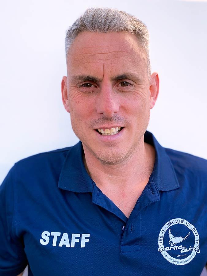 Ben Hutchinson | PADI instructor Lanzarote