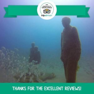 Dive Lanzarote - Manta Diving Lanzarote receives Certificate of Excellence from TripAdvisor