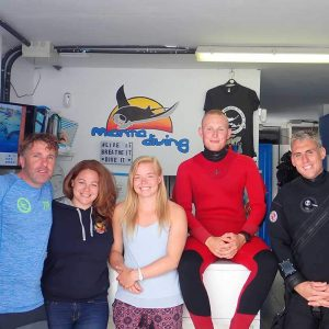 Abi with the Dive Team at Manta Diving Lanzarote