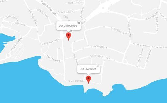 Manta Diving Lanzarote Location | Lanzarote Dive Centre