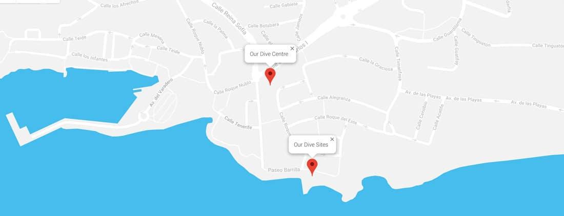Centro de buceo Manta Diving Lanzarote Lugar en Puerto Del Carmen