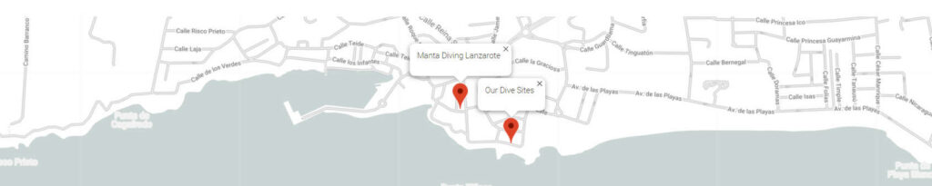 Centro de buceo Lanzarote - Manta Diving Lanzarote Lugar